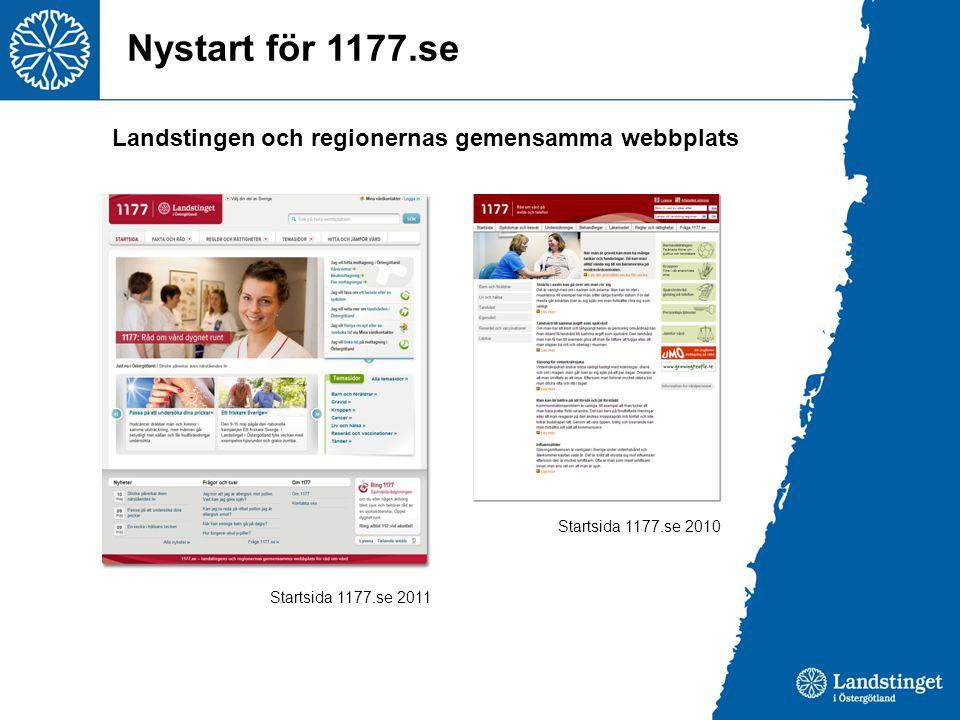 Nystart för 1177.se Landstingen och regionernas gemensamma webbplats