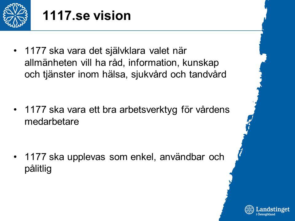 1117.se vision 1177 ska vara det självklara valet när allmänheten vill ha råd, information, kunskap och tjänster inom hälsa, sjukvård och tandvård.