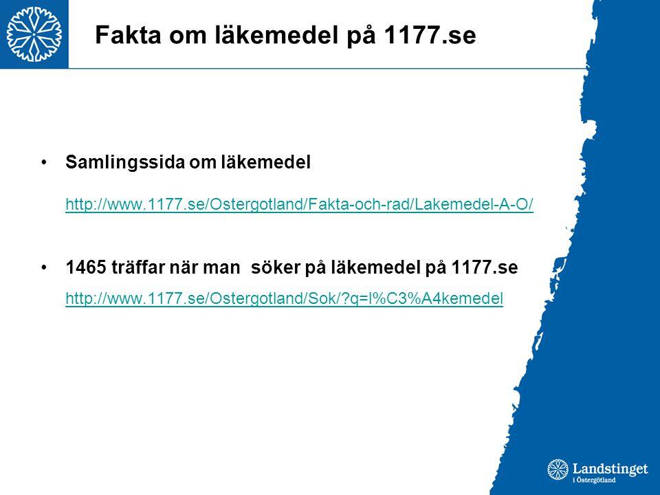Fakta om läkemedel på 1177.se
