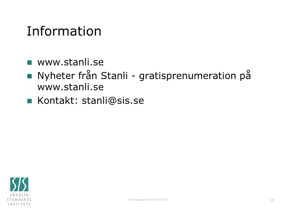Information www.stanli.se