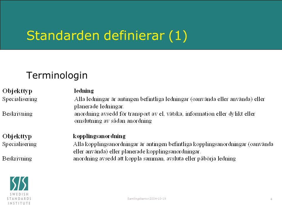 Standarden definierar (1)