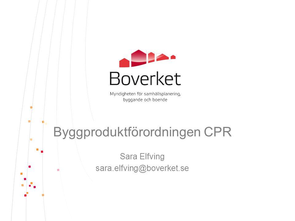 Byggproduktförordningen CPR