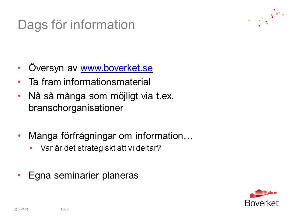 Dags för information Översyn av www.boverket.se