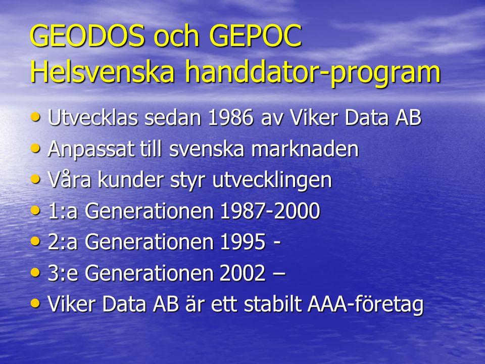 GEODOS och GEPOC Helsvenska handdator-program