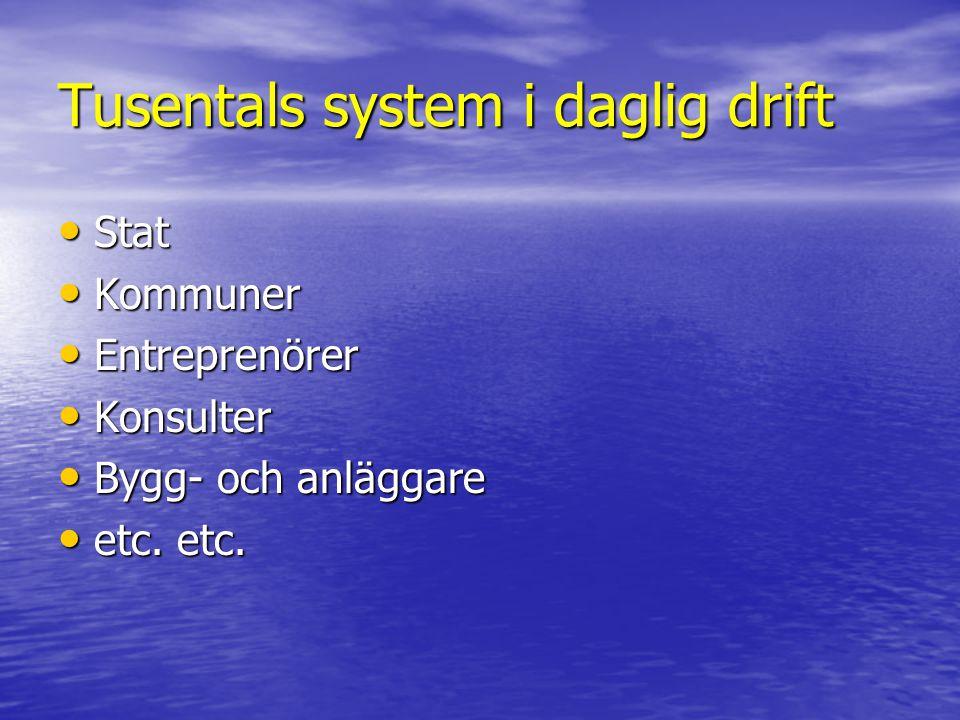 Tusentals system i daglig drift
