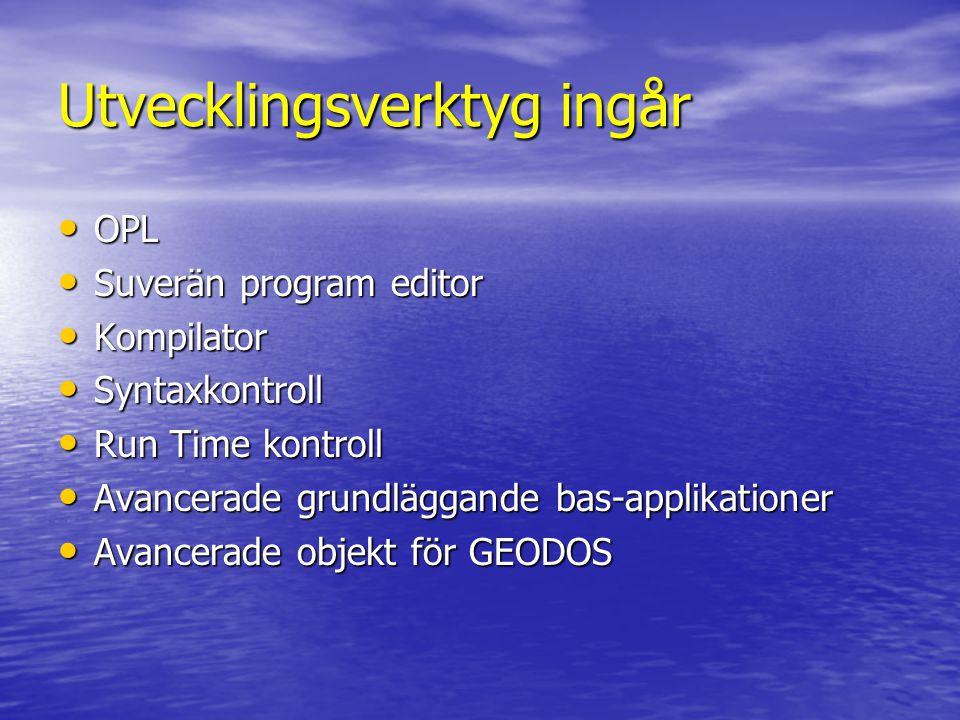 Utvecklingsverktyg ingår