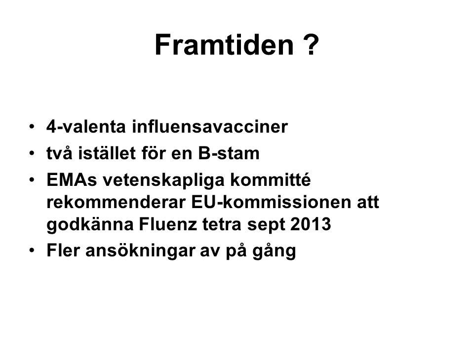 Framtiden 4-valenta influensavacciner två istället för en B-stam