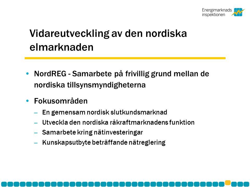 Vidareutveckling av den nordiska elmarknaden