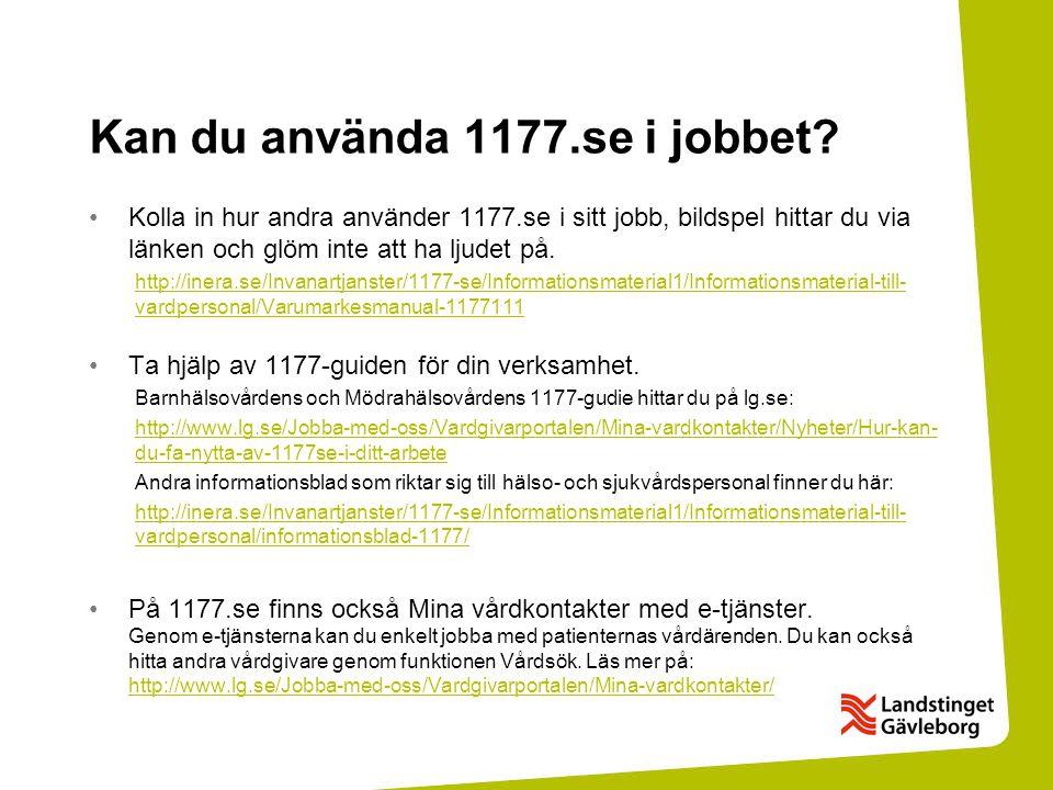 Kan du använda 1177.se i jobbet