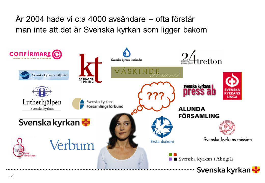 År 2004 hade vi c:a 4000 avsändare – ofta förstår man inte att det är Svenska kyrkan som ligger bakom