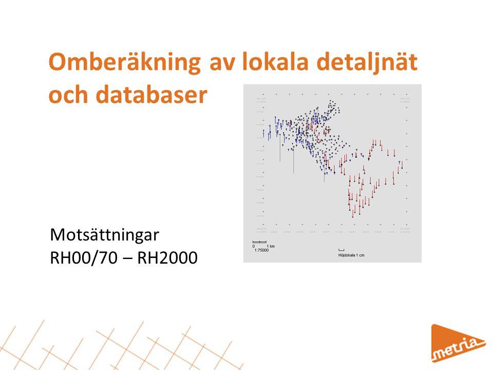 Omberäkning av lokala detaljnät och databaser