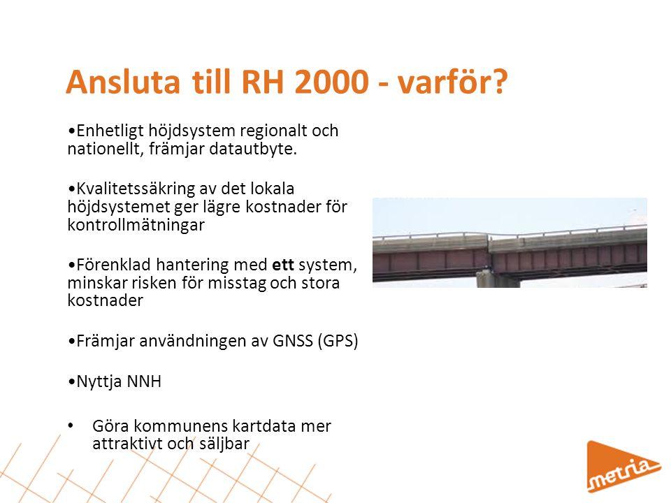 Ansluta till RH 2000 - varför