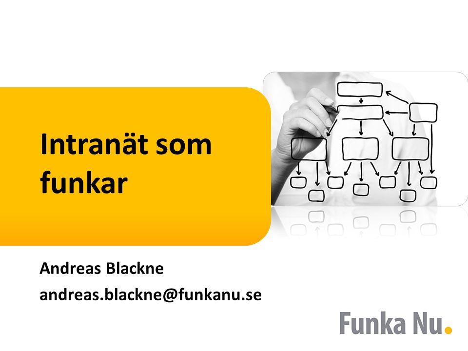 Intranät som funkar Andreas Blackne andreas.blackne@funkanu.se