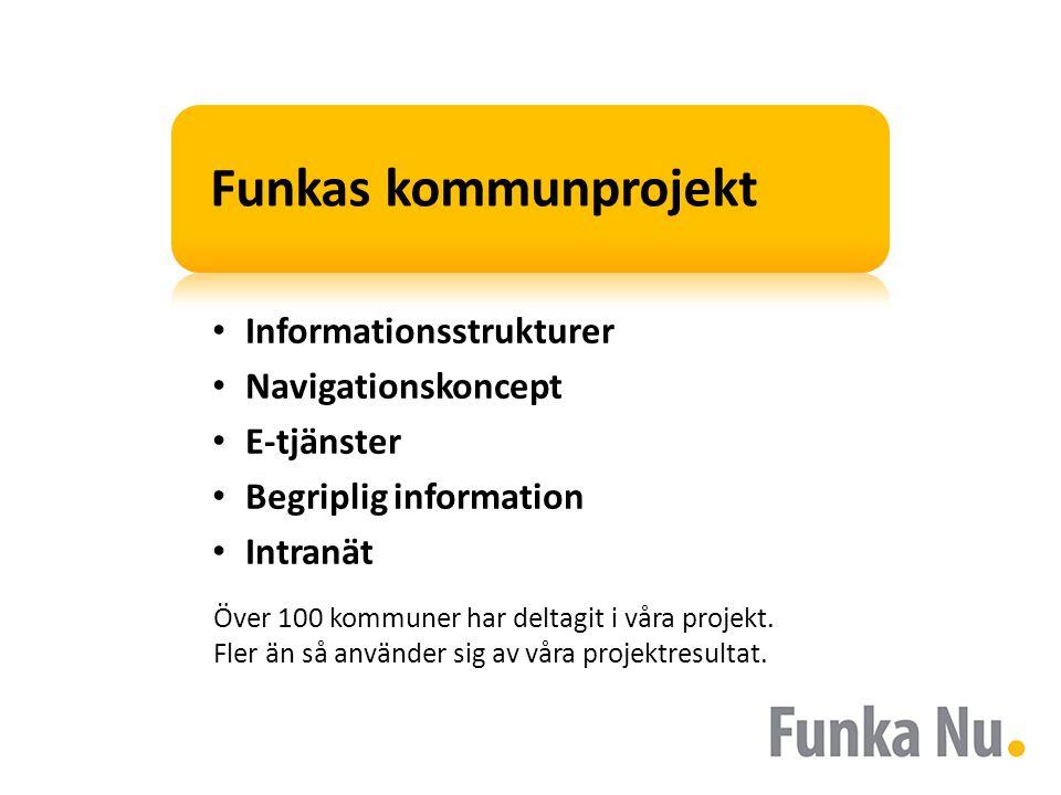 Funkas kommunprojekt Informationsstrukturer Navigationskoncept