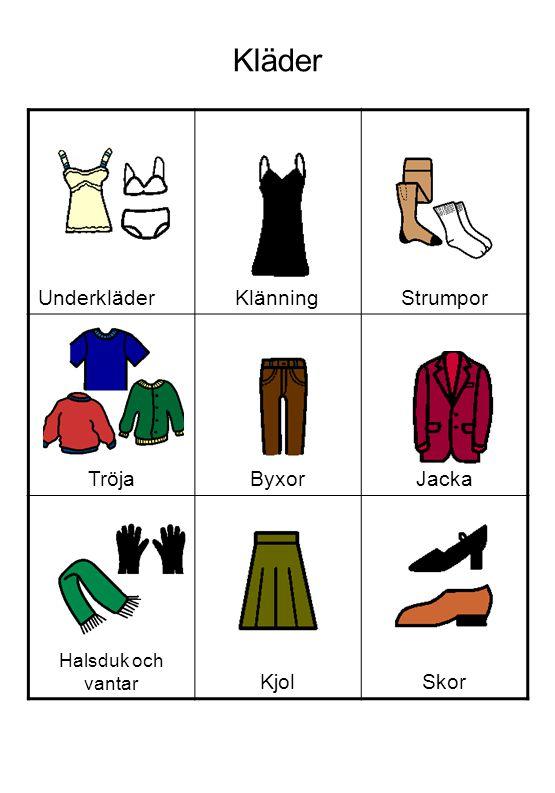 Kläder Underkläder Klänning Strumpor Tröja Byxor Jacka Kjol Skor