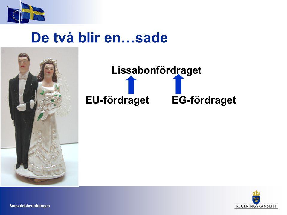 De två blir en…sade Lissabonfördraget EU-fördraget EG-fördraget