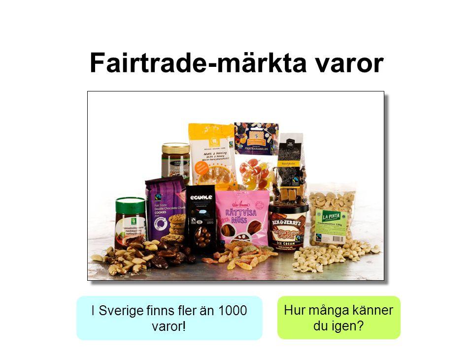 Fairtrade-märkta varor