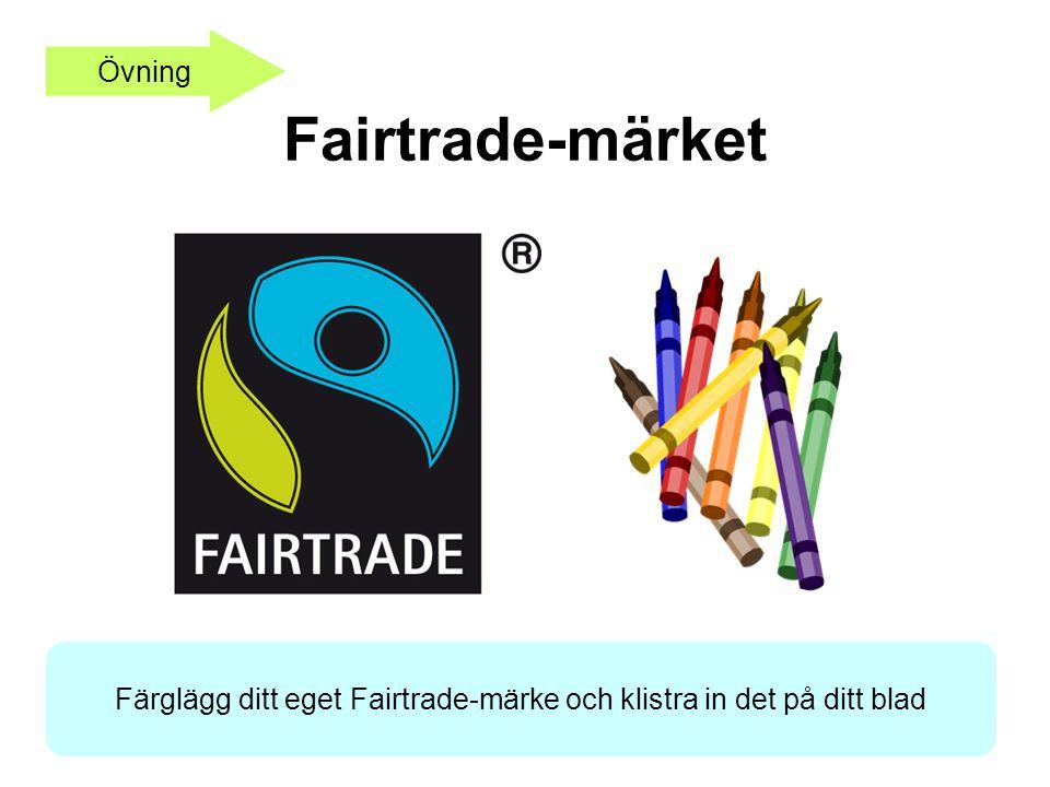 Färglägg ditt eget Fairtrade-märke och klistra in det på ditt blad