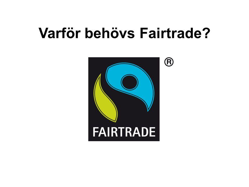 Varför behövs Fairtrade