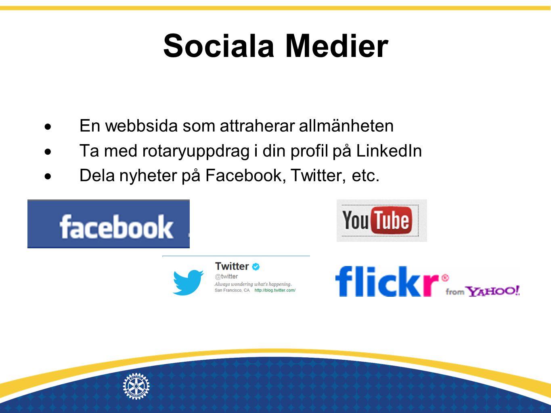 Sociala Medier En webbsida som attraherar allmänheten