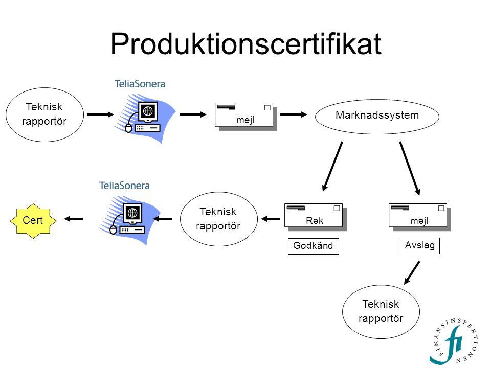 Produktionscertifikat