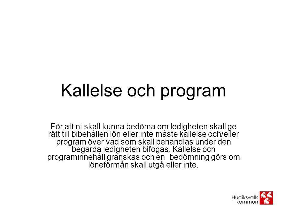Kallelse och program