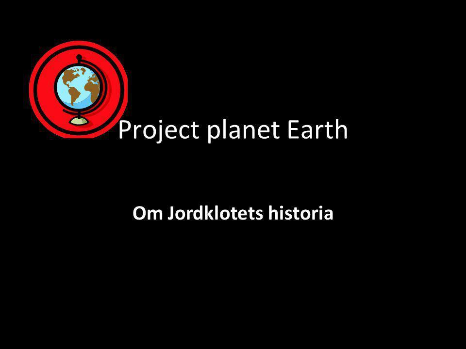 Om Jordklotets historia