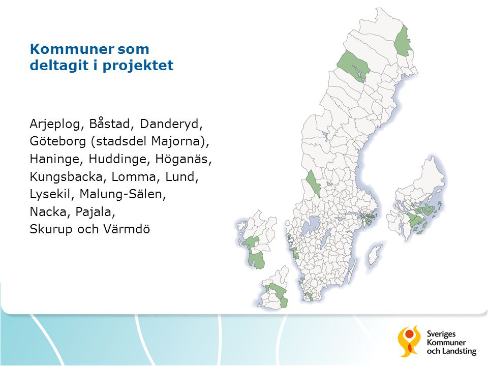Kommuner som deltagit i projektet