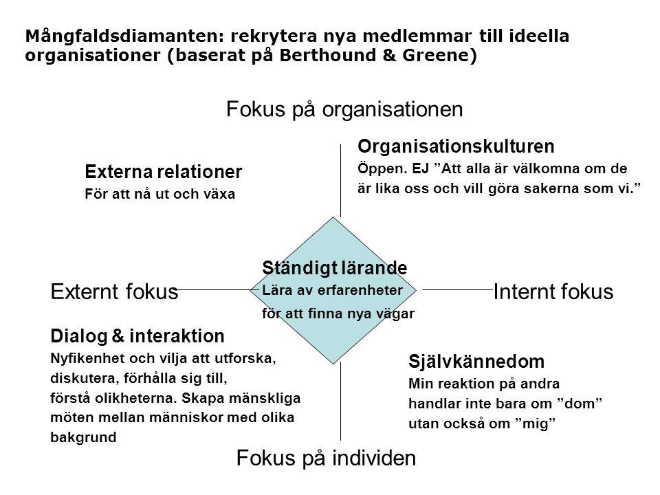Fokus på organisationen