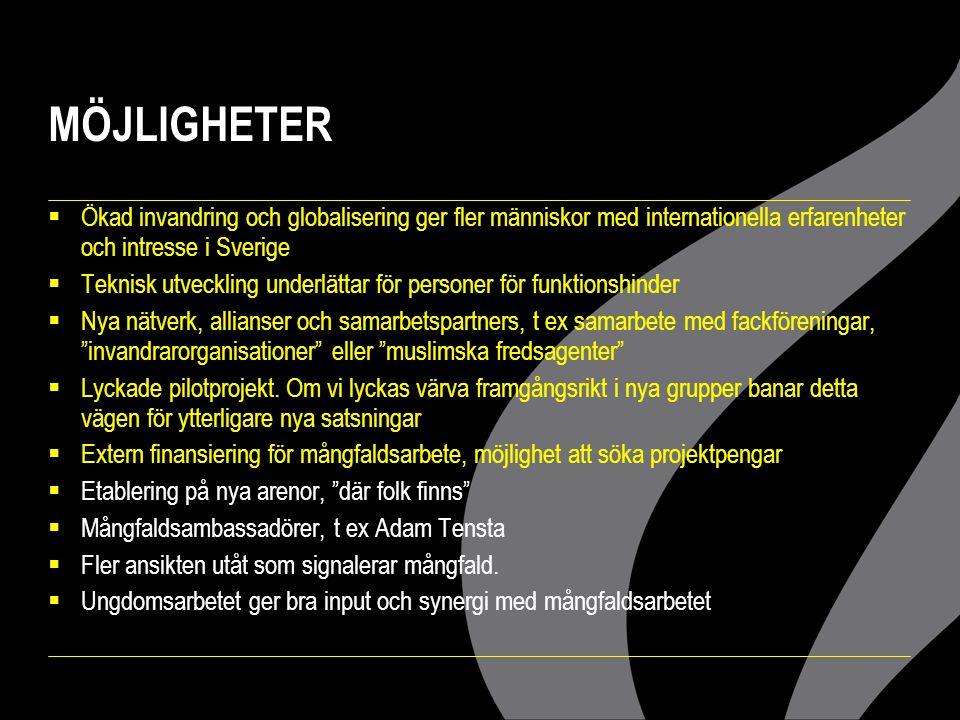 MÖJLIGHETER Ökad invandring och globalisering ger fler människor med internationella erfarenheter och intresse i Sverige.