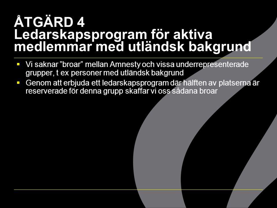 ÅTGÄRD 4 Ledarskapsprogram för aktiva medlemmar med utländsk bakgrund