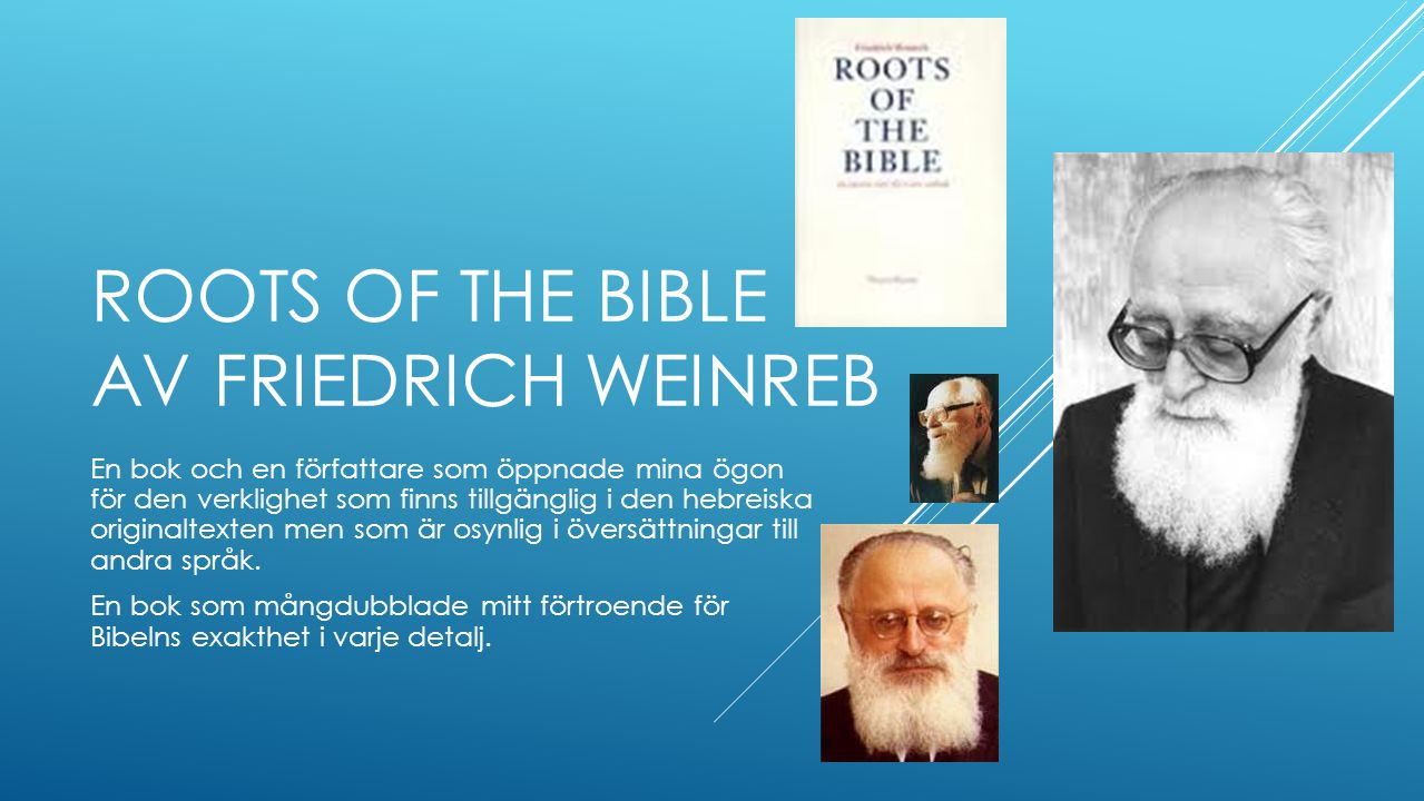 Roots of the Bible av Friedrich weinreb