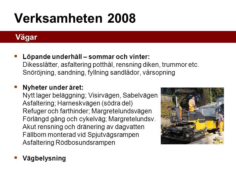 Verksamheten 2008 Vägar.