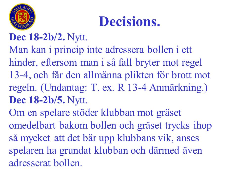 Decisions. Dec 18-2b/2. Nytt.