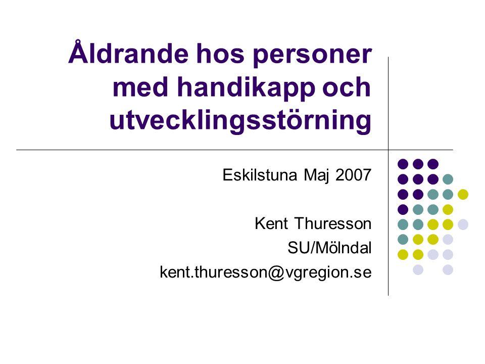 Åldrande hos personer med handikapp och utvecklingsstörning