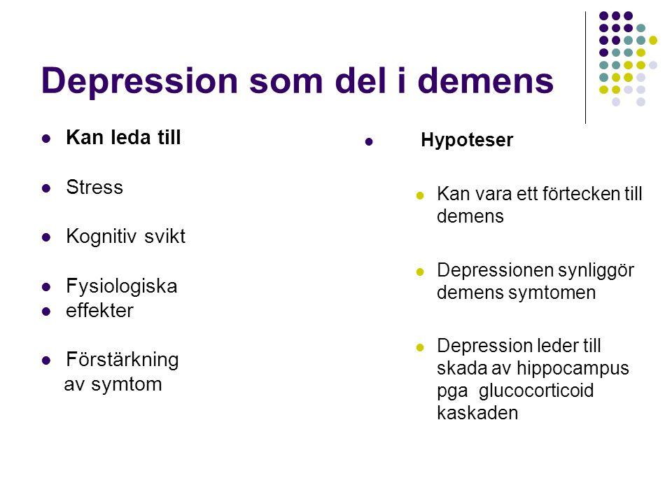 Depression som del i demens