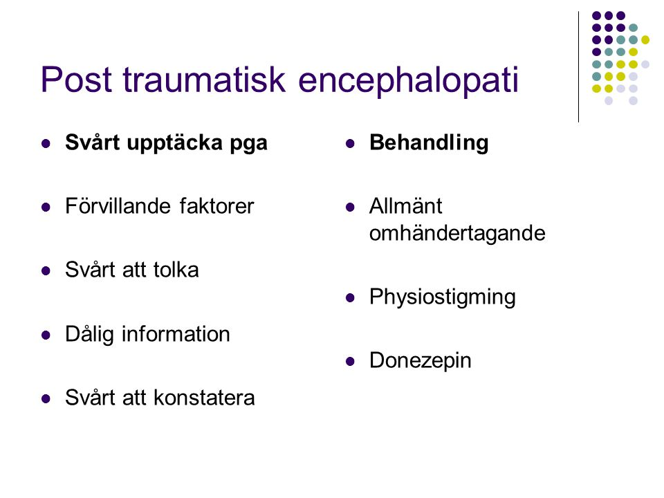 Post traumatisk encephalopati