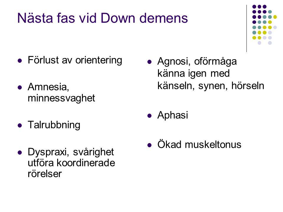 Nästa fas vid Down demens