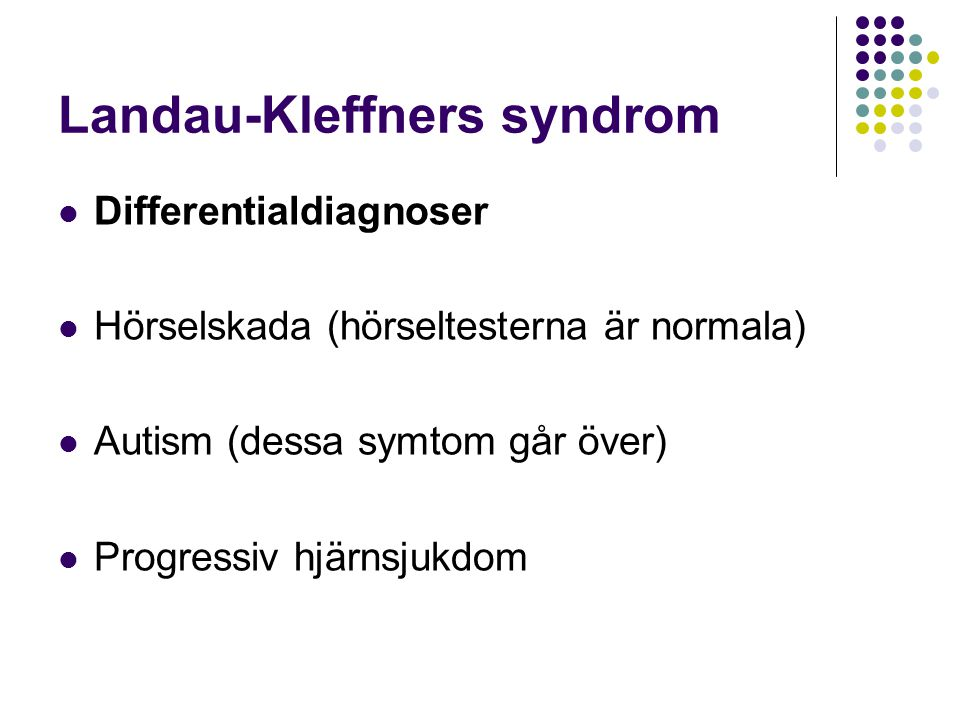 Landau-Kleffners syndrom