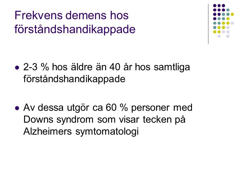 Frekvens demens hos förståndshandikappade