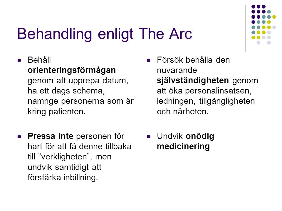 Behandling enligt The Arc