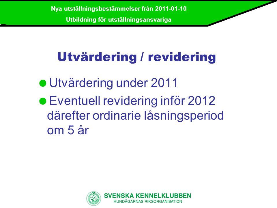 Utvärdering / revidering