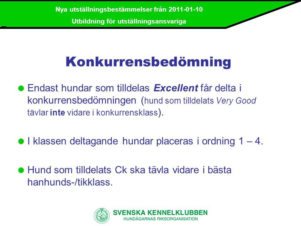 2010-09-25 / Utbildning arrangörer Nya utställningsbestämmelser 2011