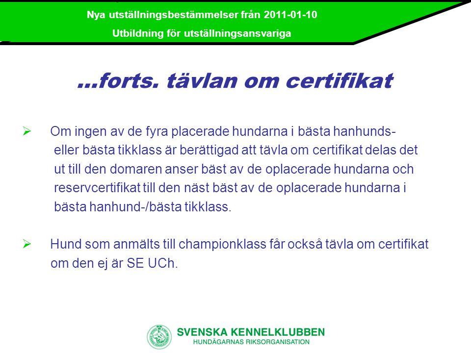 …forts. tävlan om certifikat