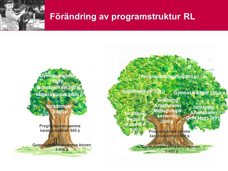 Förändring av programstruktur RL