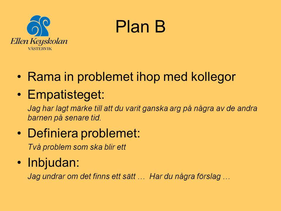 Plan B Rama in problemet ihop med kollegor Empatisteget: