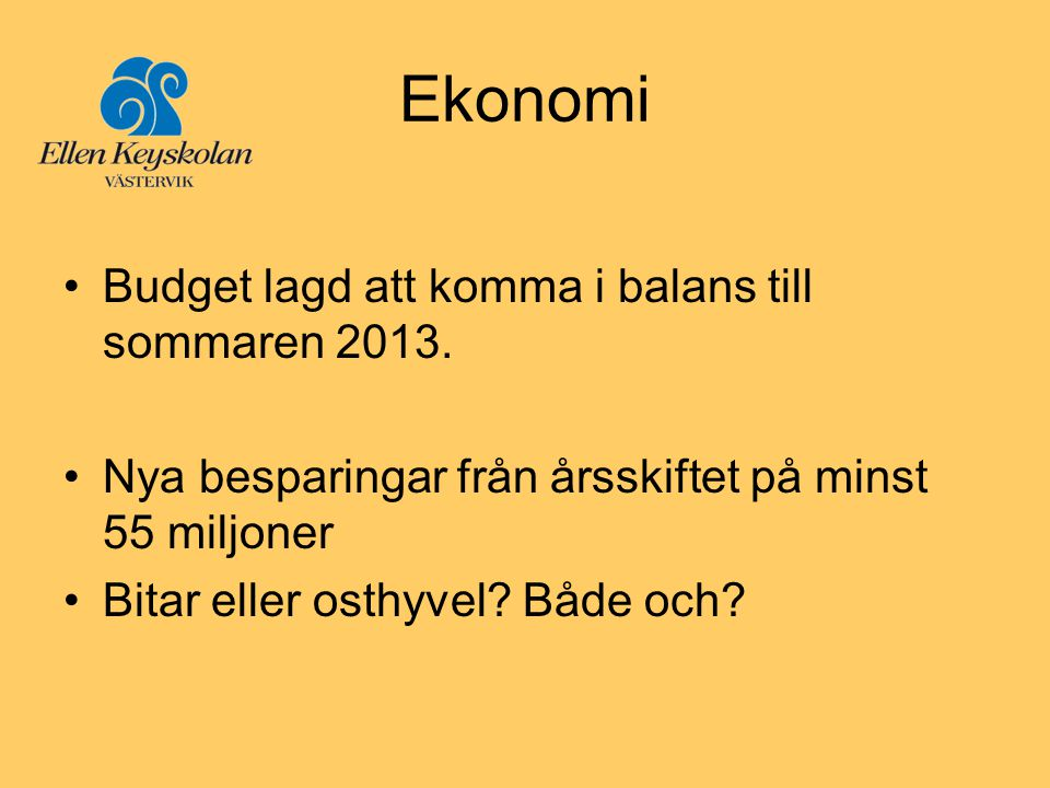 Ekonomi Budget lagd att komma i balans till sommaren 2013.