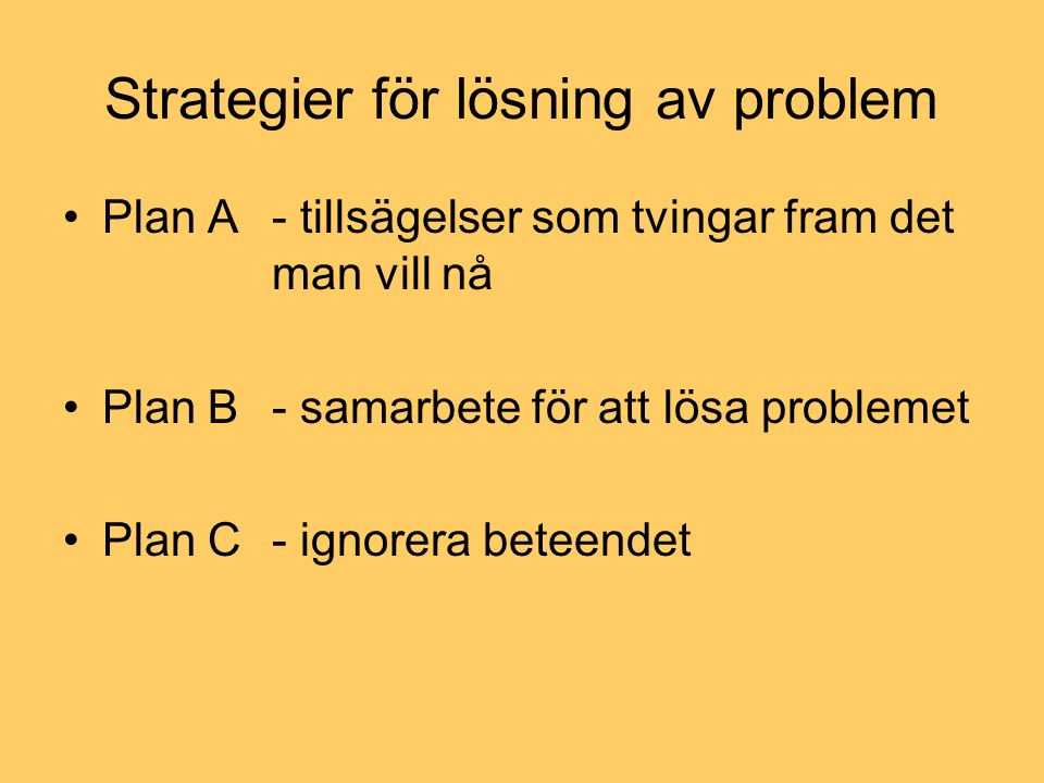 Strategier för lösning av problem