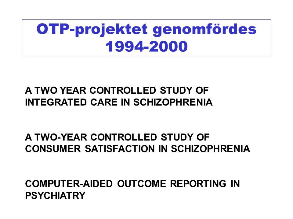 OTP-projektet genomfördes 1994-2000