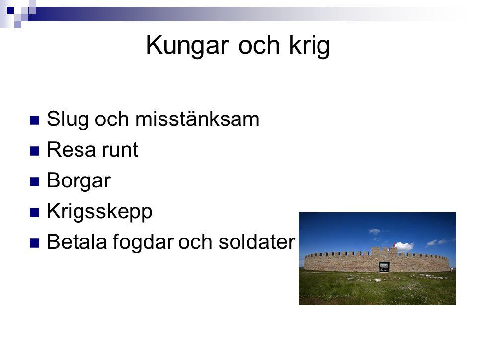 Kungar och krig Slug och misstänksam Resa runt Borgar Krigsskepp